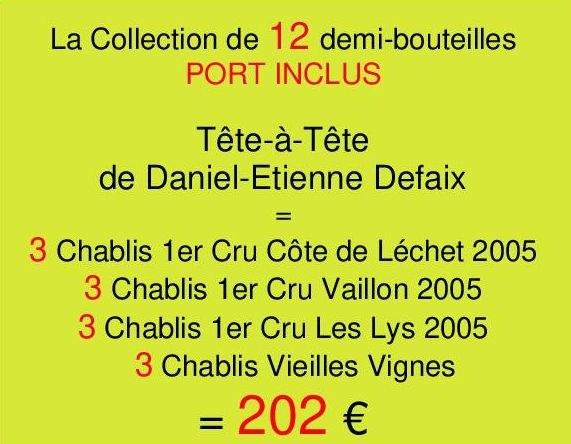 Collection Demies Defaix- 12 demi-bouteilles