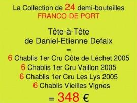 Collection Demies Defaix- 24 demi-bouteilles