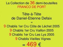 Collection Demies Defaix- 36 demi-bouteilles